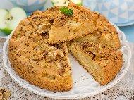 Рецепта Лесен сладкиш / кекс с овесени ядки, ябълки, кисело мляко скир и мед без брашно